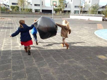 vliegeren met zakjes