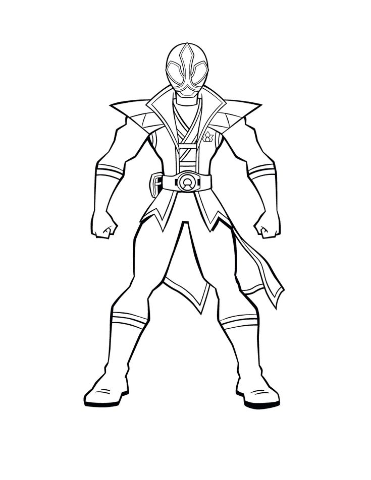 Online Power Rangers Samurai Coloring Page Free To Print