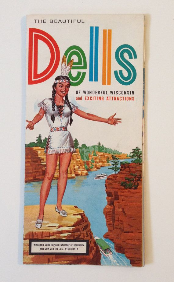 Wisconsin Dells Vintage Travel Map and Brochure 1960 – Wisconsin Travel Map