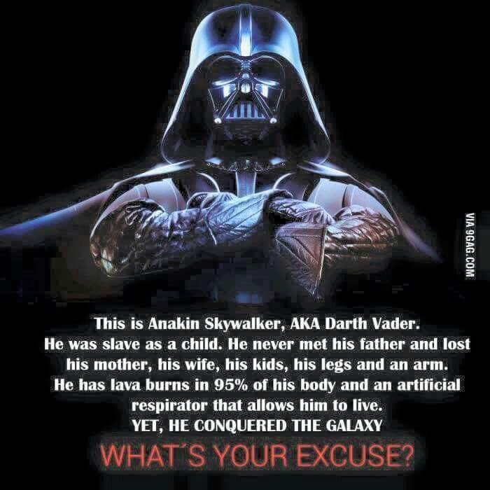 What's your excuse? #StarWars #Vader | Star Wars | Star ...