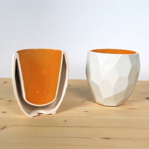 Facetted Modern Quality porcelain thermo tea cup on framestr.com