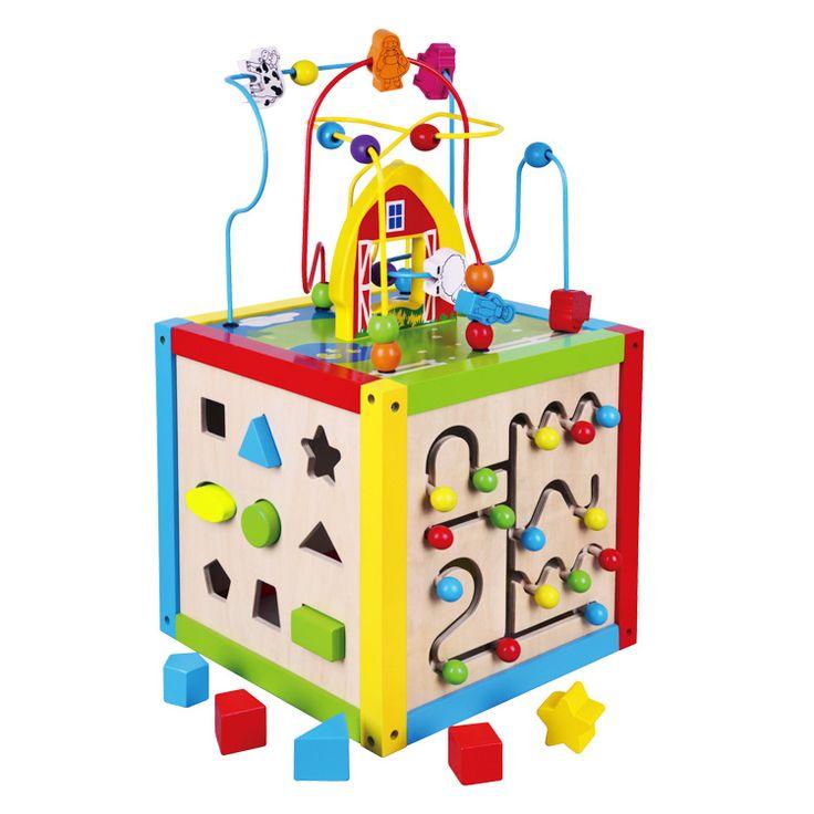 Készségfejlesztő kocka 5 az 1-ben fejlesztő babajáték | Pandatanoda.hu Játék…