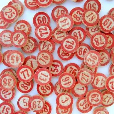 Bolas de bingo, las de toda la vida.