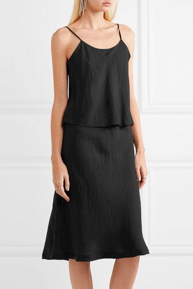 Comme des Garçons Comme des Garçons - Layered Taffeta Midi Dress - Black - large