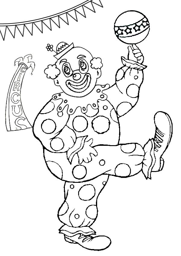 Free Online Clowning Around Colouring Page - Kids Activity Sheets: Birthday…