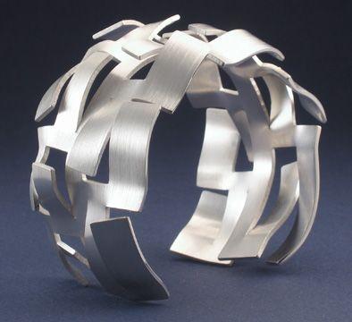 Cuff | Roland Dubuc.  Sterling Silver.