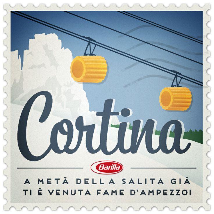 Cortina: a metà della salita già ti è venuta fame D'Ampezzo!  #cePastaPerTe #Barilla