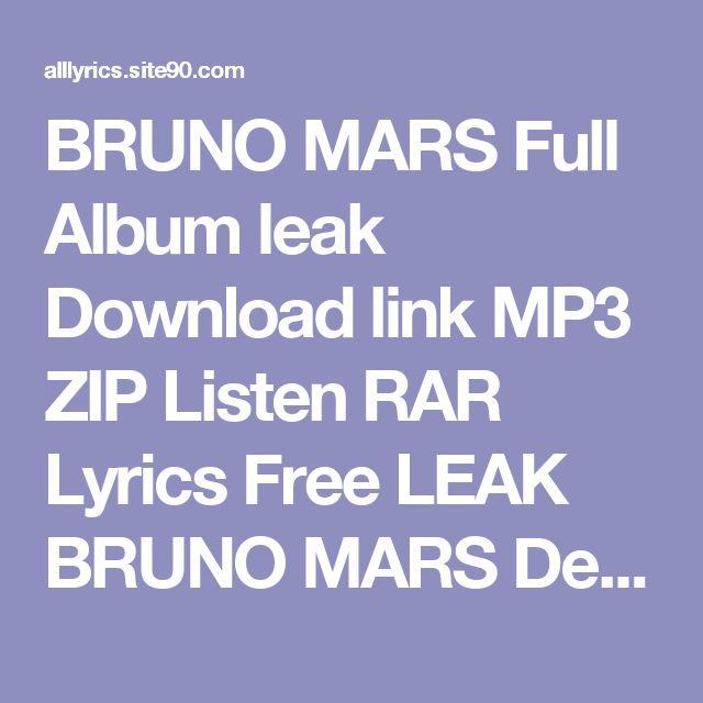 Bruno Mars Album Download Zip