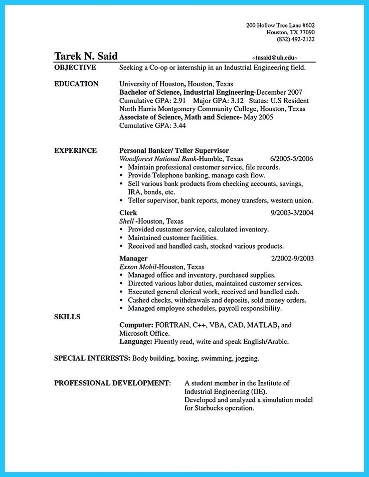 8 best Resume images on Pinterest Resume tips, Job resume and - example of bank teller resume