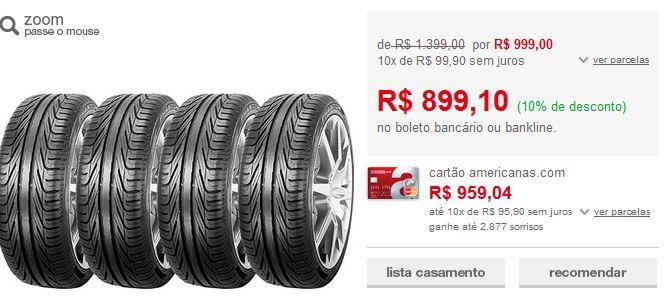 Kit com 4 Pneus Pirelli Aro 16 205/55R16 Phantom 91W<< R$ 89910 >>