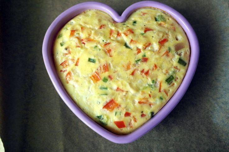 omleta pentru copiii, omleta cu pui, diversificare, retete de omleta pentru copii