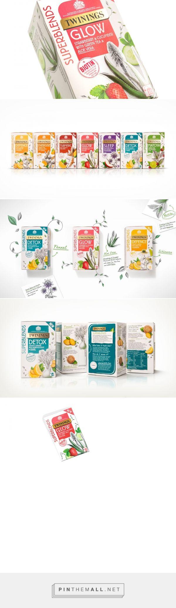 Twinings SuperBlends tea packaging design by BrandOpus - http://www.packagingoftheworld.com/2018/02/twinings-superblends.html
