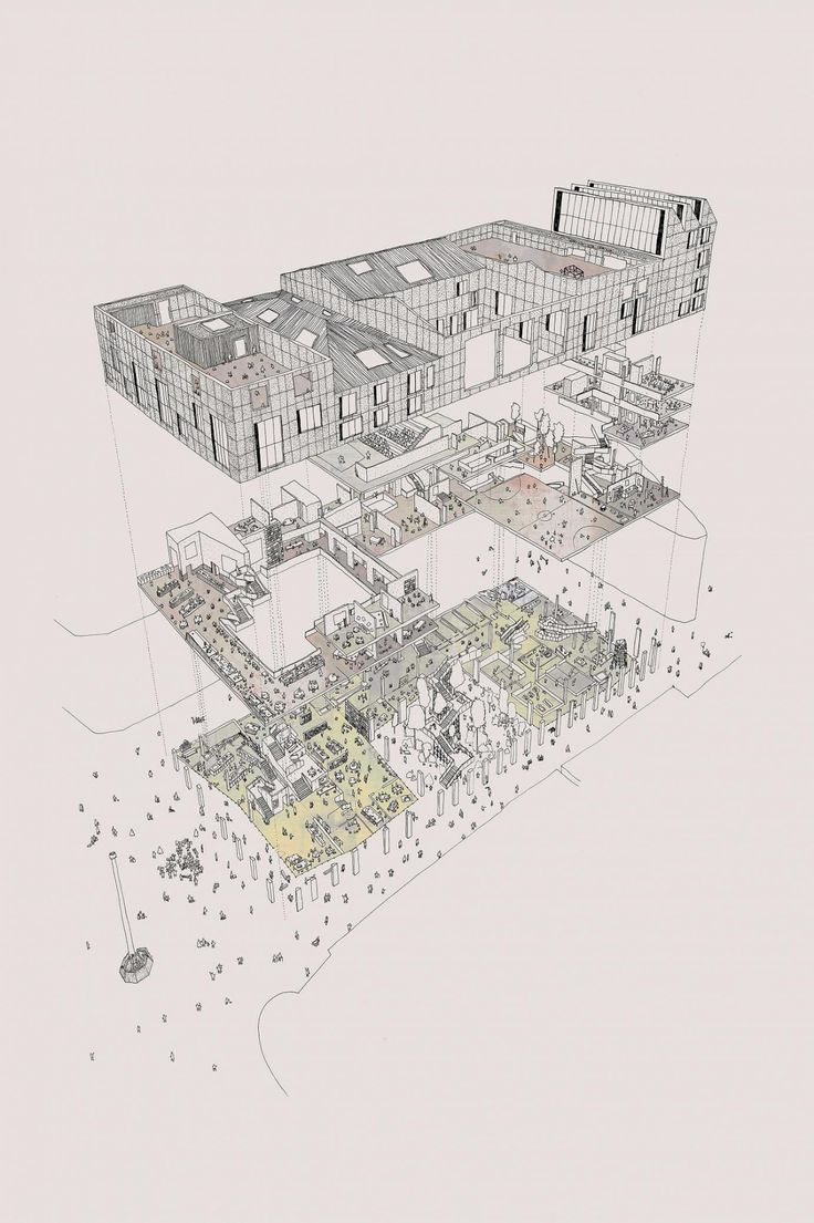 Architecture Drawing Plan 216 best exploded axonometric -architectural drawing images on