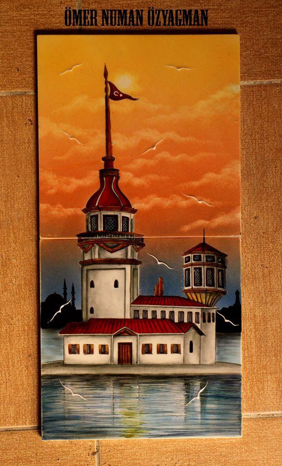 Kız Kulesi- 40/20 cm Çini Pano