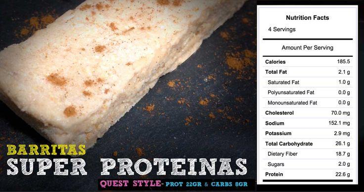 Vainilla y canela  Barritas de proteínas de verdad, ¡por fin!  22 gramos! y tan sólo 8 gramos de carbohidratos netos.