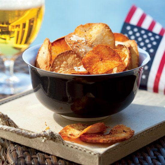 Chile-Cheese Yucca Chips // More Tasty Snacks: http://www.foodandwine.com/slideshows/tasty-snacks #foodandwine