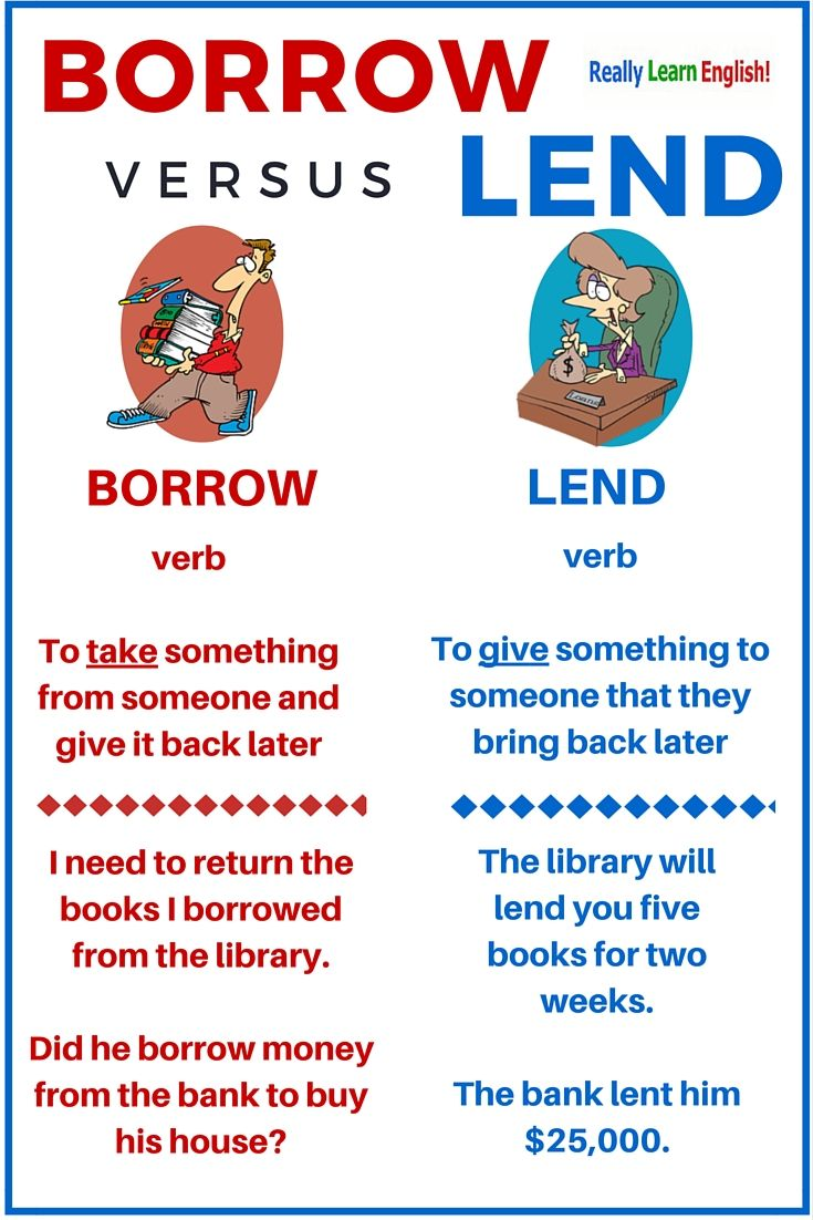 Borrow versus Lend - Learn English