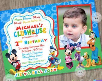Mickey Mouse Clubhouse invitación cumpleaños Mickey Mouse, Mickey Mouse Clubhouse fiesta Mickey Mouse Clubhouse cumpleaños, Mickey cumpleaños