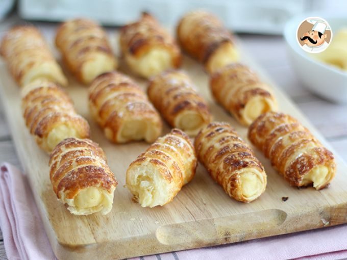 Receta : Cannoli con crema pastelera de vainilla por Petitchef_oficial