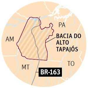 Rodovia Cuiabá-Santarém, importante canal de exportação de grãos, volta a ter alta de queimadas e desmatamento, conflitos fundiários e prisões
