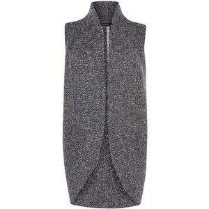 Karen Millen Chunky Tweed Waistcoat, Dar…