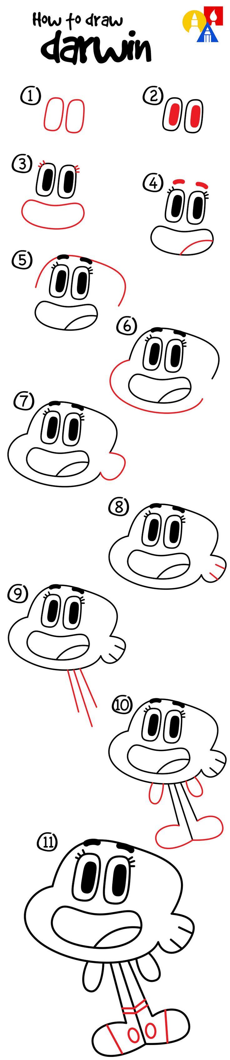 Learn how to draw Darwin!