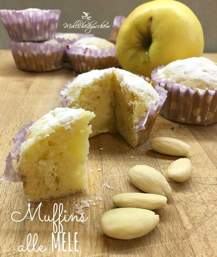 Muffins alle mele : Vi capita mai di avere voglia improvvisa di dolce? Qualcosa di semplice, veloce, sfizioso ma anche soffice e delicato...