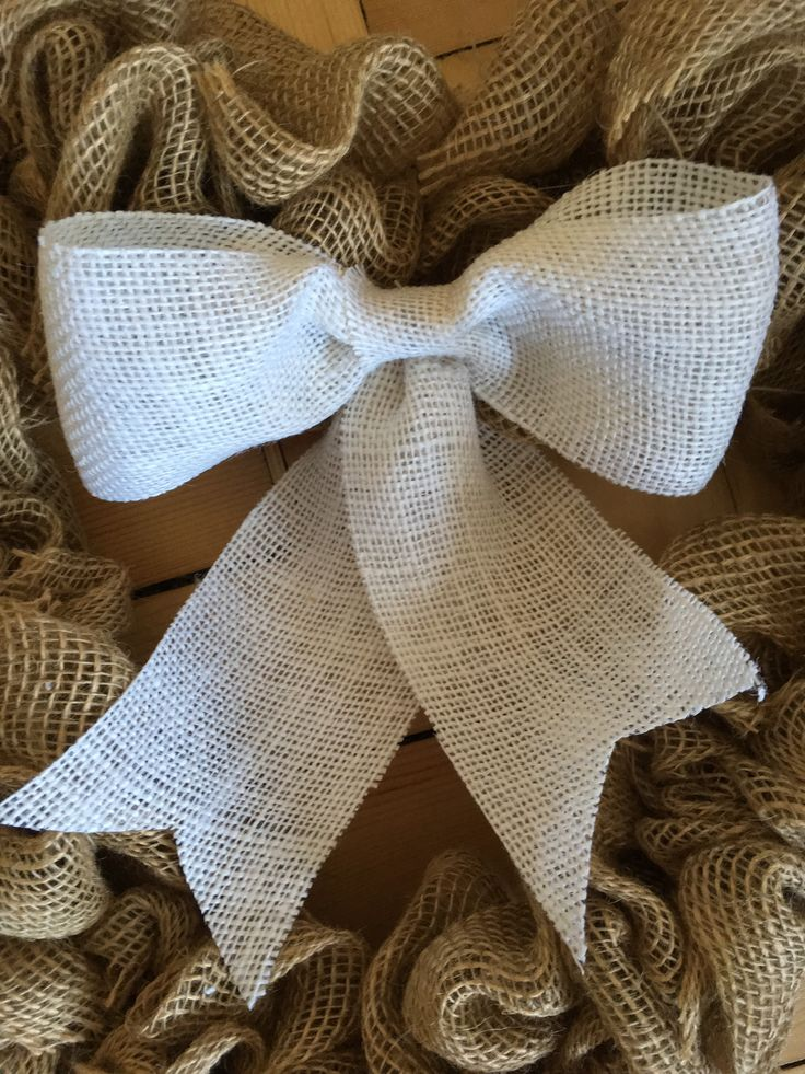 Burlap bow See my etsy shop to purchase