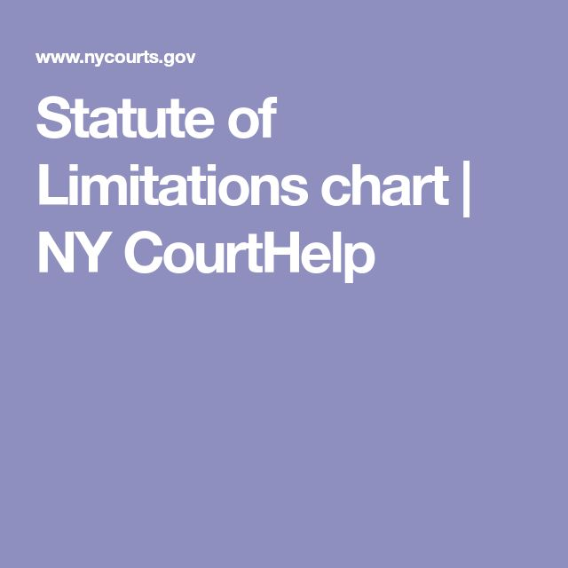 Statute of Limitations chart | NY CourtHelp