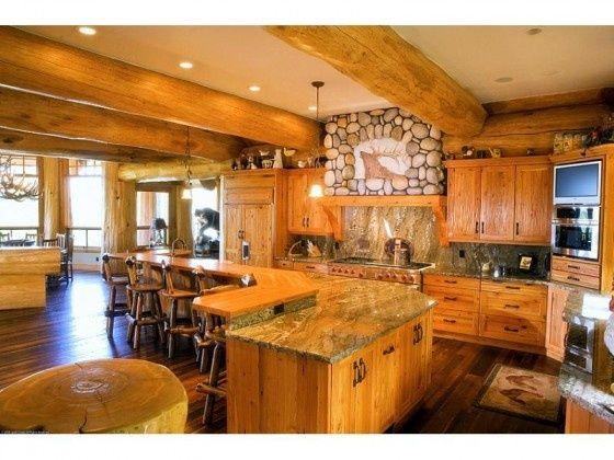 Log Cabin Kitchens My Log Cabin Dream Home Kitchen
