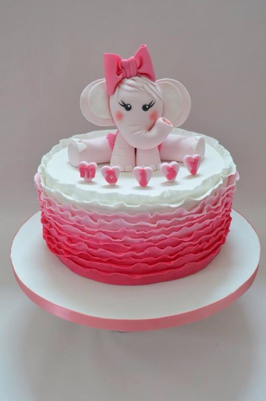 Elephant cake topper baby girl cake dla dzieci for Baby footprints cake decoration