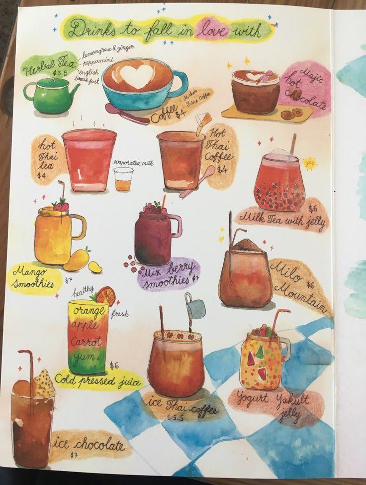 One Yada (Richmond): Drinks menu.
