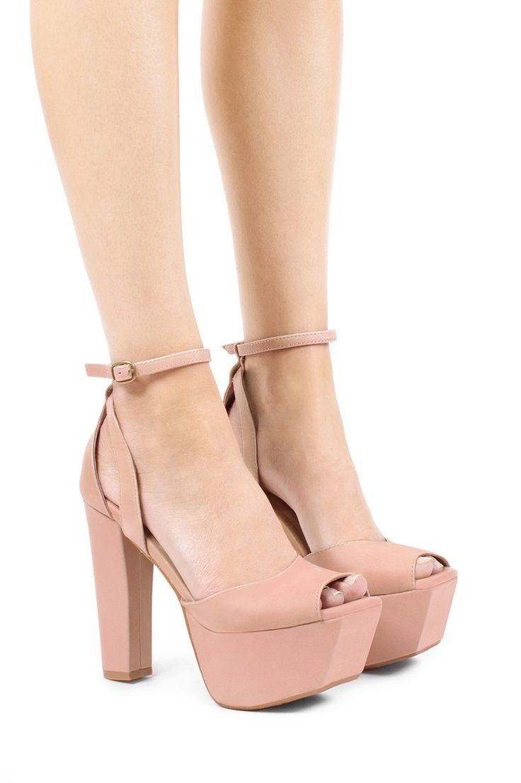 Jeffrey Campbell Shoes PERFECT-2 Vault in Nude