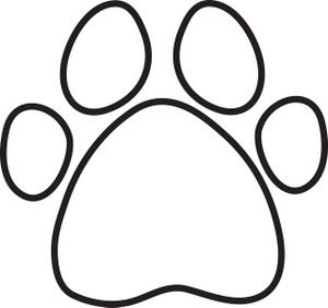 paw print clip art free coloring page clip art images coloring page stock photos - Coloring Prints