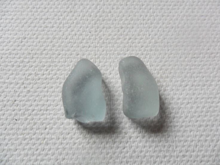 Pair of imperfect grey sea glass - Lancashire England beach find piece by…