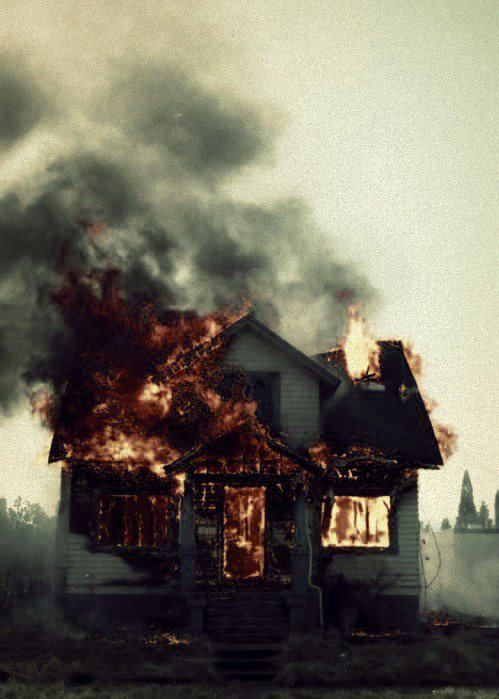 Teddy's house was burned down by Andrew Laeddis, with his wife Dolores in it, and that was a big part of his life because he loved Dolores a lot. Page 120-121