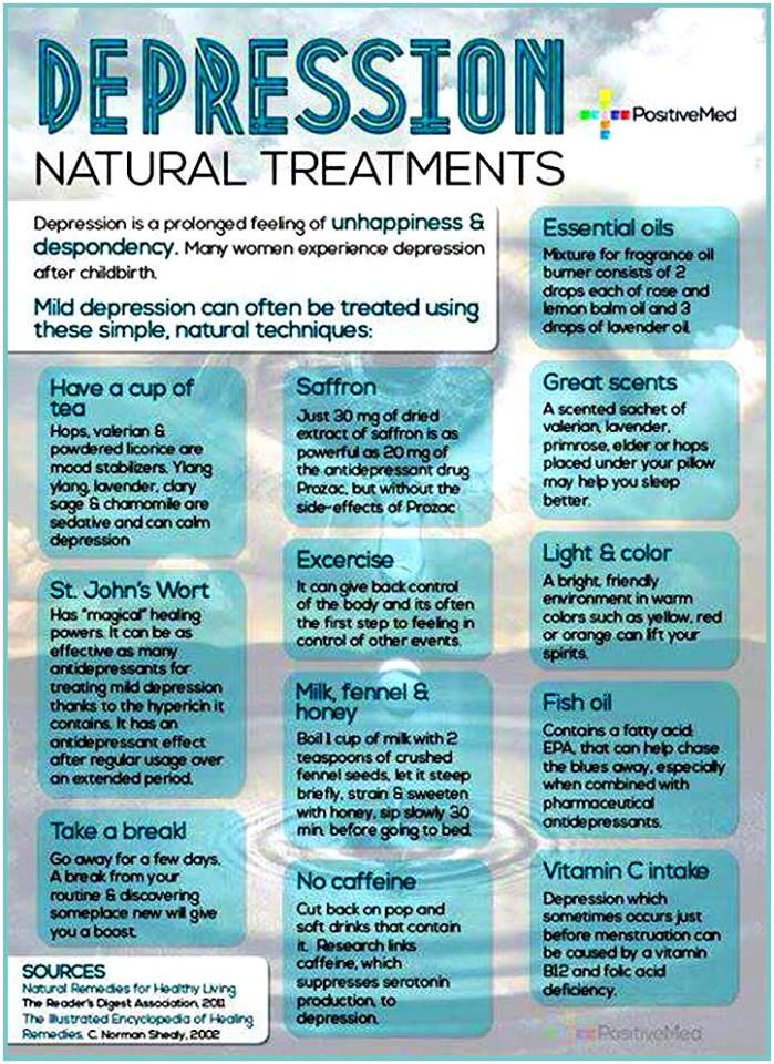 Natural treatments for depression: The following list provides you with all natural ways of combating depression. From vitamins to colors and scents are very powerful ways of dealing with ongoing depression. Here you will learn about inexpensive techniques to use in the comfort of your own home.