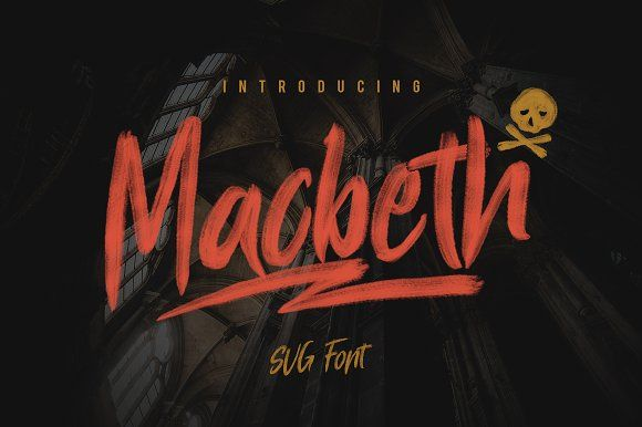 Macbeth - OpenType SVG Font by giemons™ on @creativemarket