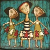 """Paper Dolls""  Facebook...Lyndy Wilson Art"