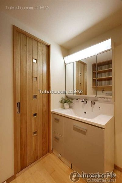 Japanese style decorated bathroom style design appreciation 2015