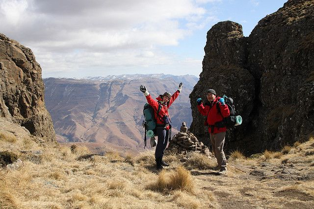 Hike Drakensberg Mountains; South Africa
