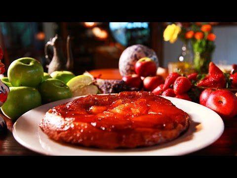 Upside-down apple tart (tarte tatin) - French Cuisine