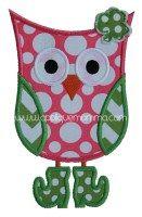 St. Patty's Day Owl Applique Design
