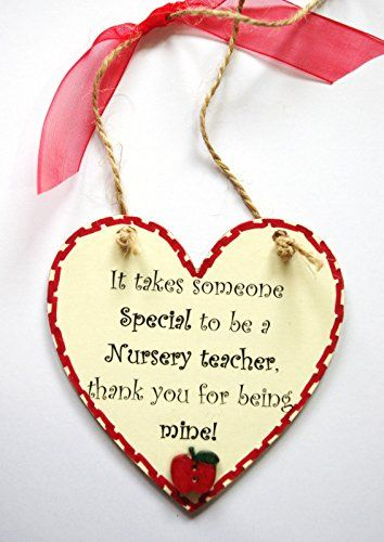 It Takes Someone Special To Be A Nursery Teacher, Thank You For Being Mine!... Heart Shaped Plaque