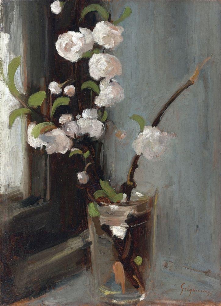 Apple Blossoms :  Nicolae Grigorescu  :  circa 1868  : Romanian Painting #RomanianOilPainting