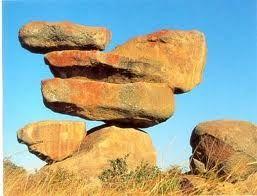 Matopos, balancing rocks in Zimbabwe