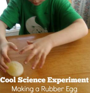 Cool Science Experiments-Making a Rubber Eggs