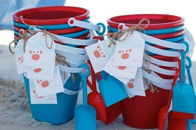 Beach birthday party favors. birthday party Party Ideas| http://partyideacollectionsconner.blogspot.com