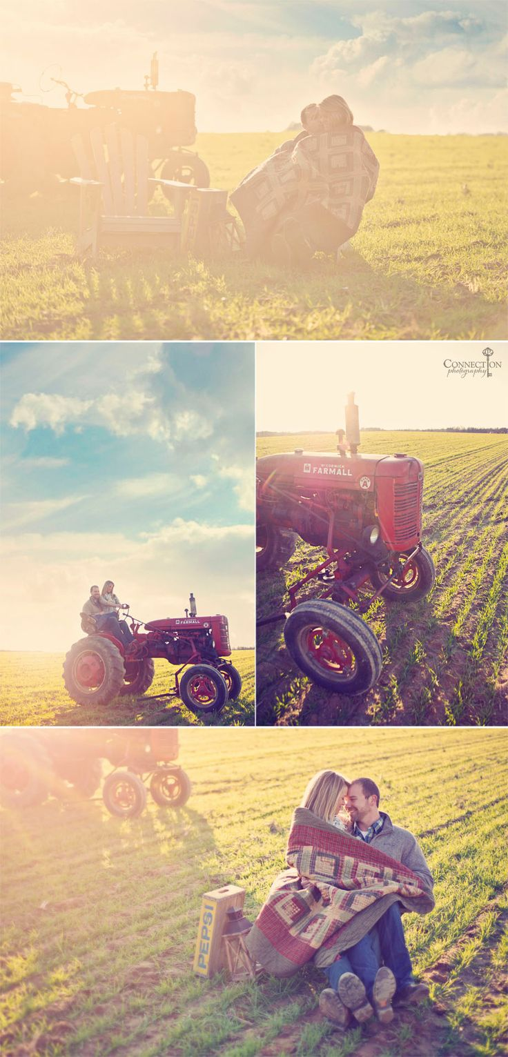 Tractor engagement session!Dads Tractors, Engagement Pictures, Engagement Photos, Engagement Session, Farms Photos Shoots Ideas, Taking Pictures, Engagement Pics, Engagement Shoots, Couples Photos With Tractors