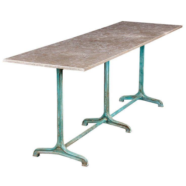 1920s Granite Top Bistro Table By Fischel